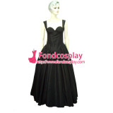 Sexy Gothic Lolita O Dress The Story Of O With Bra Satin Maid Dress Cosplay Costume Custom-Made[G001]