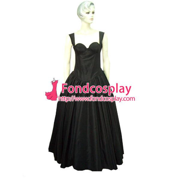 Sexy Gothic Lolita O Dress The Story Of O With Bra Satin Maid Dress Cosplay Costume Custom-Made[G001]