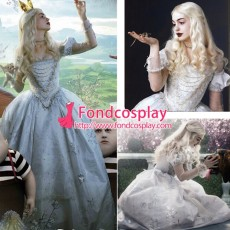 Alice In Wonderland The White Queen Dress Moive Cosplay Costume Tailor-Made[G1474]