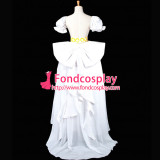Sailor Moon Tsukino Usagi White Chiffon Dress Cosplay Costume Tailor-Made[G750]
