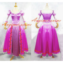 Tangled Rapunzel Princess Dress Movie Cosplay Costume Custom-Made[G595]