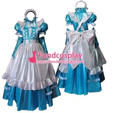 Lockable Pvc Maid Dress Maid Vinyl Uniform Tailor-Made[G1635]
