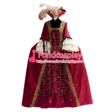 Gothic Lolita Punk Victorian Rococo Medieval Gown Ball Evening Dress Cosplay Costume Tailor-Made[G952]