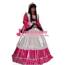 Lockable Pvc Maid Dress Maid Vinyl Uniform Tailor-Made[G1636]