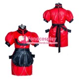 French Sissy maid leather lockable dress Uniform cosplay costume Tailor-made[G3935]