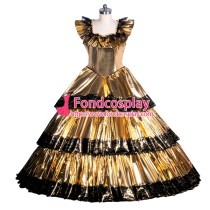 French Sissy maid PVC lockable dress Uniform cosplay costume Tailor-made[G3946]