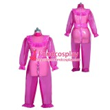 French lockable hot pink clear PVC sissy maid Romper unisex Tailor-made[G3960]