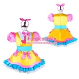 French Sissy Maid Lockable Satin Dress Uniform Cosplay Costume Tailor-made[G3974]