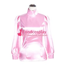 French Sissy Maid baby pink satin shirt Uniform Cosplay Costume Tailor-made[G4006]