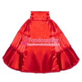 French Sissy Maid Red Skirt Uniform Cosplay Costume Tailor-made[G4004]