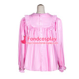 French Sissy Maid baby pink PVC shirt Uniform Cosplay Costume Tailor-made[G4056]
