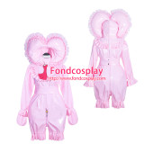 French Sissy Maid Lockable Baby pink PVC Romper Dress Uniform Cosplay Costume Tailor-made[G4012]