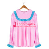 French Sissy Maid baby pink PVC shirt Uniform Cosplay Costume Tailor-made[G4057]