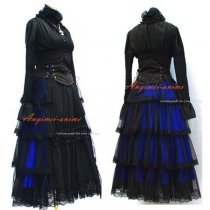 Japan Visual J-Rock Outfit Dress Gothic Punk Outfit Cosplay Costume Tailor-Made[G452]