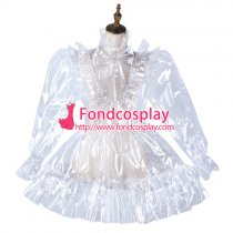 Sissy Maid Clear Pvc Dress Lockable Uniform Cosplay Costume Tailor-Made[G2179]