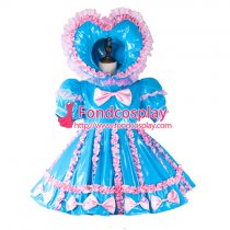 Adult Sissy Baby Maid Pvc Dress Lockable Tailor-Made[G2285]