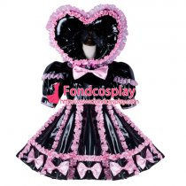 Adult Sissy Baby Maid Pvc Dress Lockable Tailor-Made[G2347]