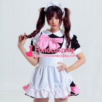 lockable sissy maid Cotton dress cosplay Unisex Tailor-made[G3921]