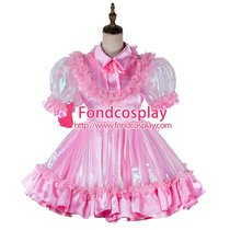 French Lockable Sissy Maid Satin-Organza Dress Outfit Tailor-Made[G2018]