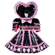 French Adult Sissy Baby Maid Pvc Dress Lockable Tailor-Made[G2347]