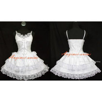 French Sissy Maid Gothic Lolita Punk Lack Dress Cosplay Costume Custom-Made[G480]