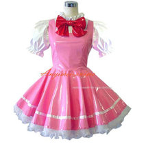 French Sissy Maid Cardcaptor Sakura Kinomoto Sakura Pvc Dress Cosplay Costume Tailor-Made[CK945]