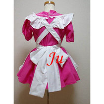 French Sexy Sissy Maid Pvc Lockable Dress Uniform Cosplay Costume Tailor-Made[CK850]