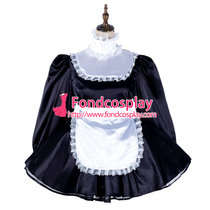 French Sissy Maid Satin Dress Lockable Uniform Cosplay Costume Tailor-Made[G2136]