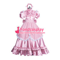 French Lockable satin long sissy dress gothic lolita Tailor-made [G3865]
