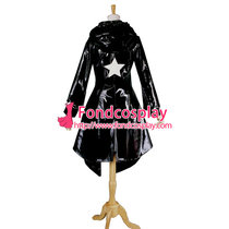 Black Rock Shooter Black Pvc Dress Cosplay Costume Tailor-Made[G724]