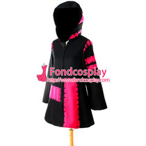 Black And Red Vocaloid 2 Kagamine Rin Jacket Coat Cosplay Costume Tailor-Made[G929]