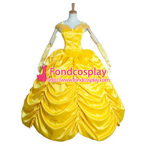 Beautiful Yellow Belle Princess Dress Movie Cosplay Costume Custom-Made[G903]