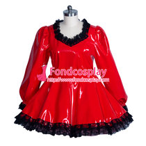 PVC Costume Gothic lolita lockable punk blouse-skirt Tailor-made [G3926]
