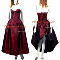 O Dress The Story Of O With Bra Tafetta Dress Cosplay Costume Tailor-Made[G430]