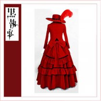 Black Butler Kuroshitsuji Madame Red Hat Dress Cosplay Costume Tailor-Made[CK1359]