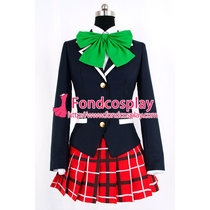 Demo Koi Ga Shitai! Kumin Tsuyuri Uniform Green Tie Cosplay Costume School Uniform Tailor-Made[G864]