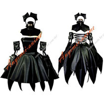 Chobits Freya Dark Chii Faux Leather Pvc Maid Dress Cosplay Costume Custom-Made[G567]