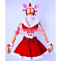 Suzumiya Haruhi No Yuuutsu-Suzumiya Haruhi Christmas Velvet Dress Cosplay Costume Custom-Made[G853]