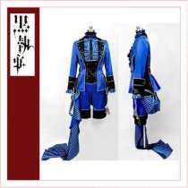 Black Butler Kuroshitsuji Ciel Phantomhive Blue Dress Cosplay Costume Tailor-Made[CK1356]
