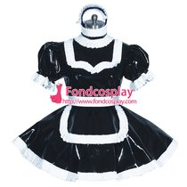 French Sissy maid PVC lockable dress Uniform cosplay costume Tailor-made[G3936]