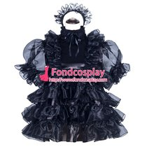 French Sissy Maid Satin Dress Uniform Cosplay Costume Tailor-made[G3968]
