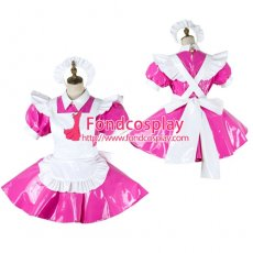 Lockable Sissy Maid Pvc Dress Vinyl Uniform Cosplay Costume Tailor-Made[G2008]