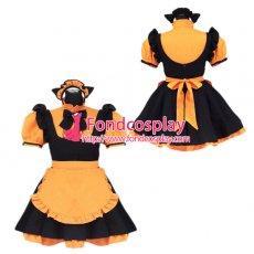 lockable sissy maid Satin dress cosplay Unisex Tailor-made[G3924]