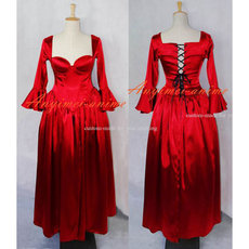 Sexy Gothic Lolita O Dress The Story Of O With Bra Satin Maid Dress Cosplay Costume Custom-Made[G610]