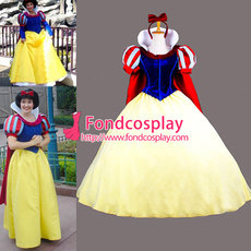 Snow White Velvet Princess Dress Christmas & Halloween Cosplay Costume Custom-Made[G824]