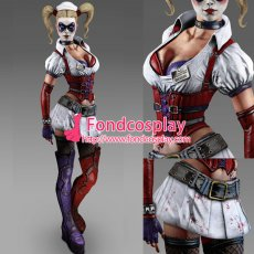 Batman: Arkham Asylum - Game Of The Year Edition-Harley Quinn Outfit Game Costume Tailor-Made[G944]