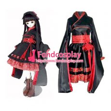 Japan Gtothic Lolita Punk Sd Doll Kimono Cosplay Costume Tailor-Made[G143]