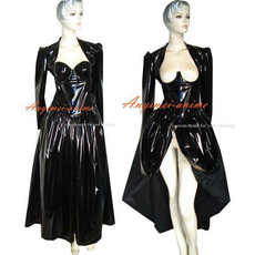 O Dress The Story Of O With Bra Black Pvc Dress Cosplay Costume Tailor-Made[G348]