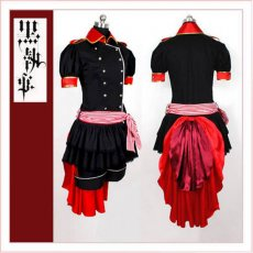 Black Butler Kuroshitsuji Ciel Phantomhive Women'S Black And Red Dress Cosplay Costume Tailor-Made[CK1352]