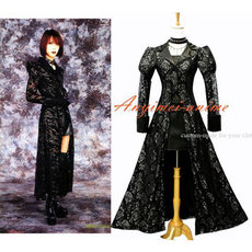 Gothic Lolita Dress Di Ren Grey-Shinya Visual Rock Cosplay Costume Custom-Made[G590]